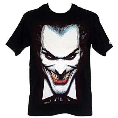 02138736 Batman Joker Close Up Mens T-Shirt Featuring Artwork by Alex Ross, Medium:  Amazon.co.uk: Clothing