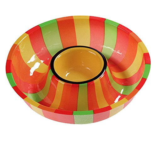 Fiesta Tray - Creative Converting (050831) Plastic Fiesta Chip and Dip Tray