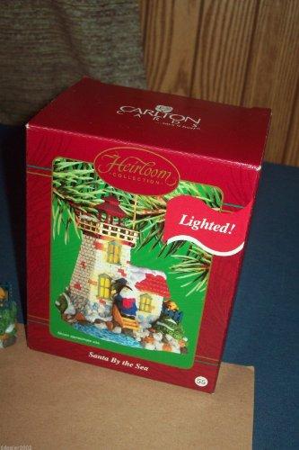 Lighthouse Santa By The Sea Carlton Heirloom Ornament