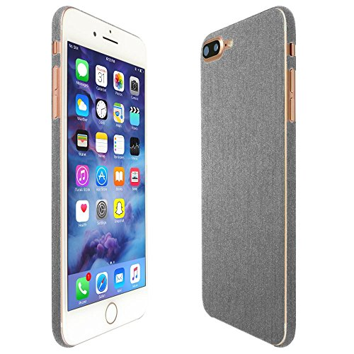 iPhone 7 Plus Screen Protector + Brushed Aluminum Full Body, Skinomi TechSkin Brushed Aluminum Skin for iPhone 7 Plus with Anti-Bubble Clear Film - Aluminum Iphone Brushed