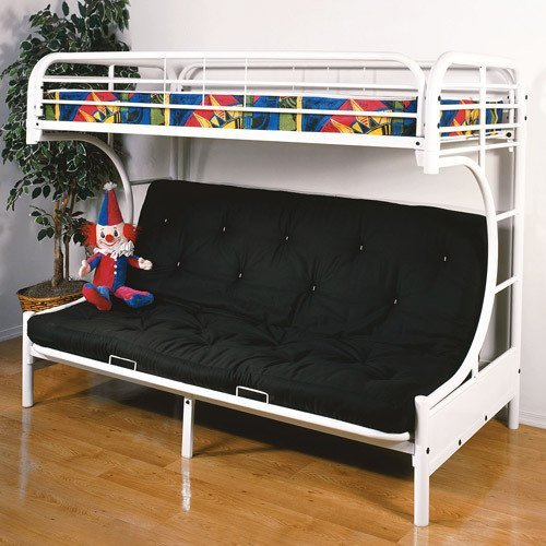 Acme Furniture 02091W-W Eclipse Futon Bunk Bed, Twin/Full, White by Acme Furniture