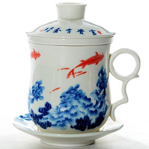 Red Blue Teacup - 2