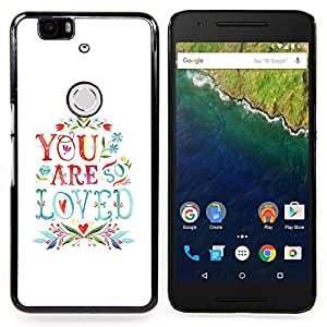 Stuss Case / Funda Carcasa protectora - ¿Son cita del amor Parejas San Valentín - Huawei Google Nexus 6P