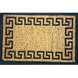 TUFFSCRAPE COIR GREEK KEY RECTANGLE RUBBER BACK DOOR MAT SIZE 40x60CM by rm