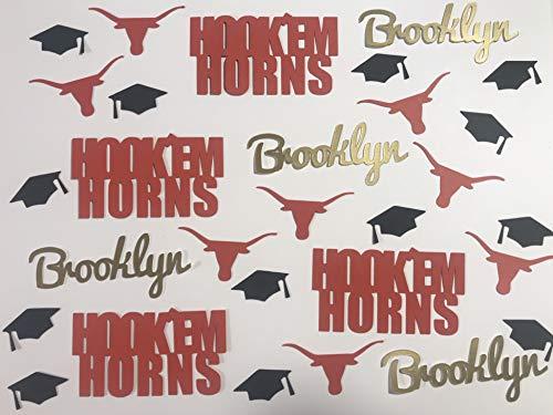 University of Texas Longhorns Hook'Em Horns Personalized Graduation Confetti]()