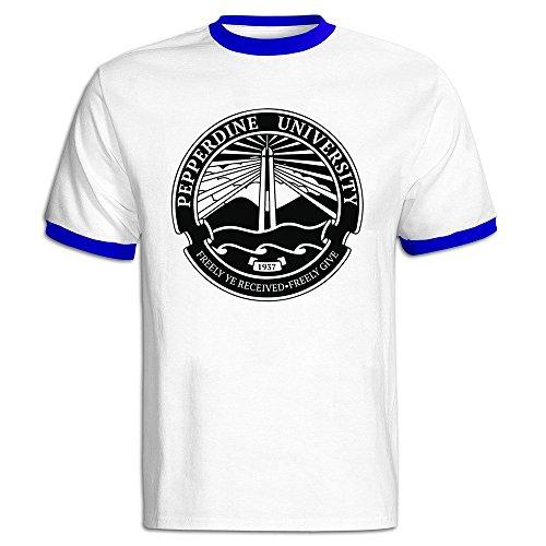 (Men's Pepperdine University Seal Baseball T Shirt RoyalBlue)