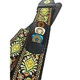 Golden Lion's 60's Jacquard Vintage Guitar Strap with Newly Designed Pick Pocket!