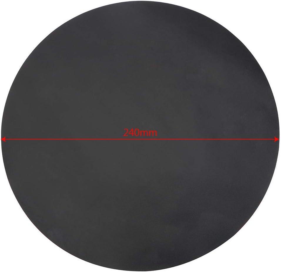 Juego de 2 sartenes antiadherentes redondas de color negro di/ámetro 24 cm color negro resistentes a altas temperaturas CuiGuoPing