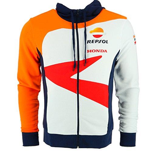 Sweatshirt Hoody Honda (Honda Repsol Moto GP Team Logo White Zip Hoodie Official New)