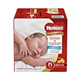 Huggies Little Snugglers Baby Diapers, Size Newborn, 88 Count, GIGA JR PACK (Packaging may Vary)