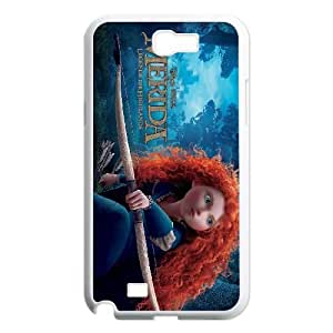 Samsung Galaxy Note 2 White phone case Fashion colorful art merida DSY0642704