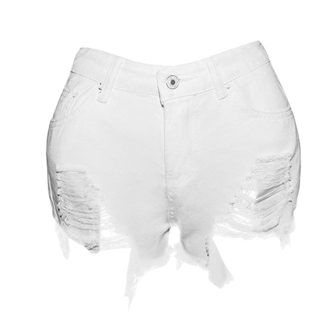 Coerni Sexy Short Jeans for Women Ripped Denim Worn Minipants 2017 Fashion in Grand SALE (XXL) by Coerni