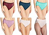 Vanity Fair Women's Illumination Hi-Cut Panty #13108, Assorted Color 3-pack, 8