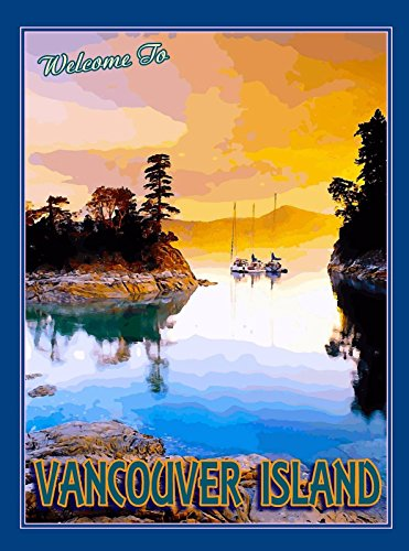 A SLICE IN TIME Canada Vancouver Island British Columbia Canadian Travel Home Collectible Wall Decor Art Advertisement Poster Print. Measures 10 x 13.5 inches