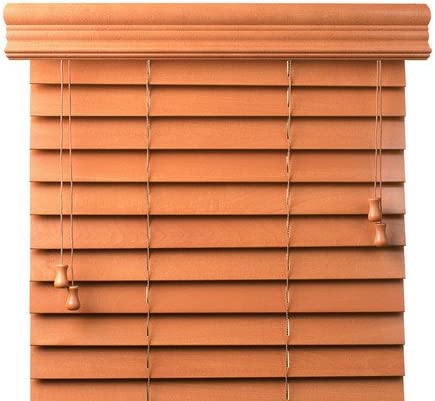Bravada Select, Superior 2 Custom Real Wood Blinds Oak, 27 Wide x 60 Length