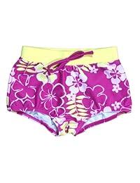 Baby Banz Girls 2-6X Boy Length UV Board Shorts, Sunblossom, 2 Years