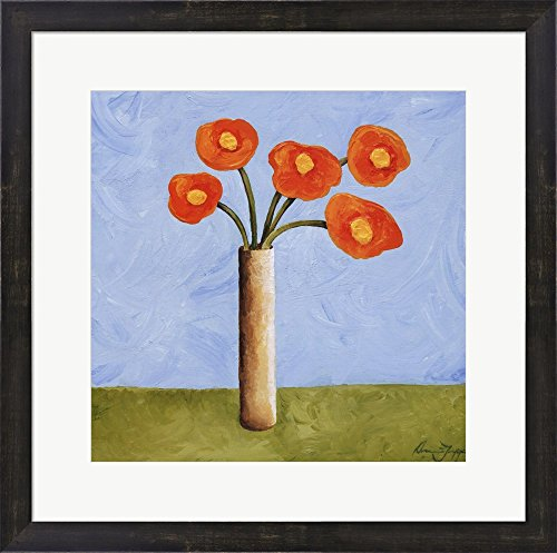 Marmalade Bouquet I by Jocelyne Anderson-Tapp Framed Art Print Wall Picture, Espresso Brown Frame, 22 x 22 inches