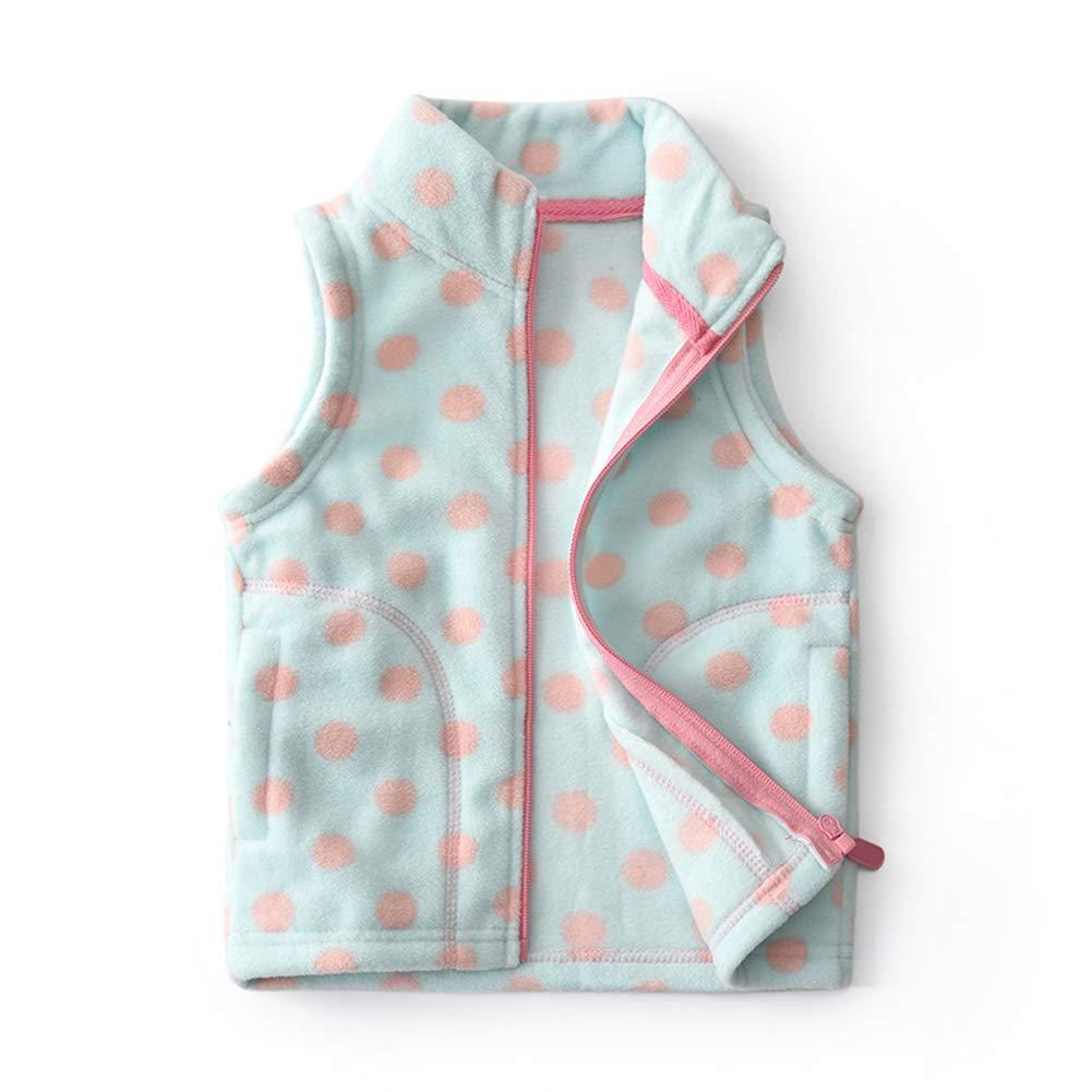 Feidoog Baby Girl Soft Polar Fleece Lightweight Vest Zipper Up Waistcoat Outerwear