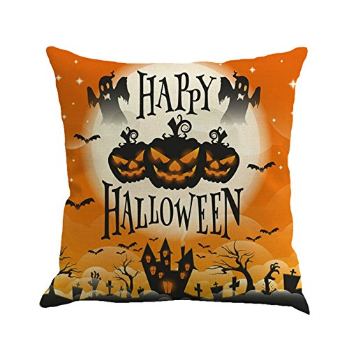 CHIDY Square Happy Halloween Pillow Cases Linen Sofa