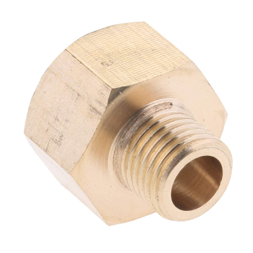 Homyl Assorted Pressure Washer Screw Hose Connector Fitting Adapter - Gold, 22mm F to 14mm M- Flat