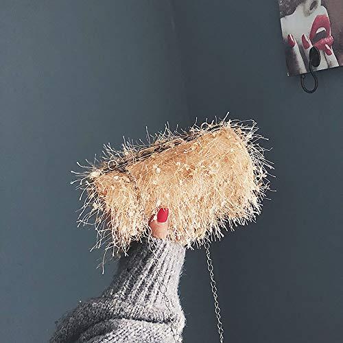Chaîne amp; Kaki Et pochettes Femme Pour Mode La Fourrure Femmes Clutches Sac Bandoulière Avec Bandoulière En sac Kaiki À Uxv1aFwzq