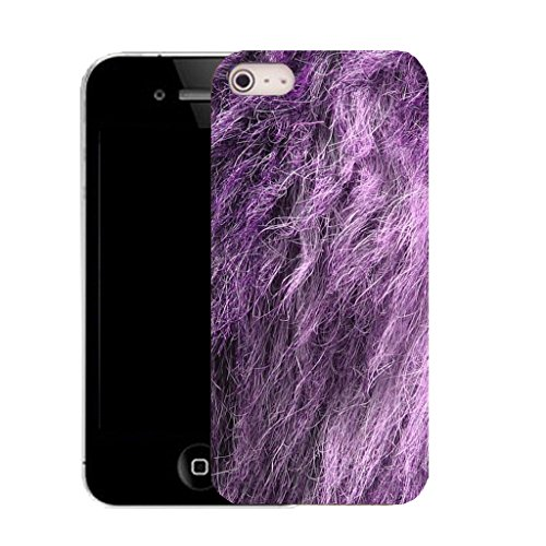 Mobile Case Mate IPhone 4 clip on Silicone Coque couverture case cover Pare-chocs + STYLET - purple animal fur pattern (SILICON)