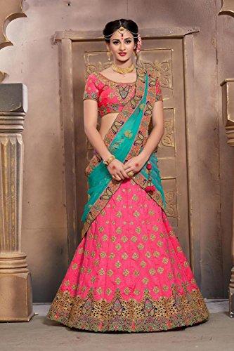 Traditional Facioun Designer Da Partywear Indian Ethnic Pink Choli Lehenga Rxd7qX7