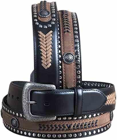 Western Express Men/'s Eagle And Usa Tooled Belt Size 38 # Xm-230