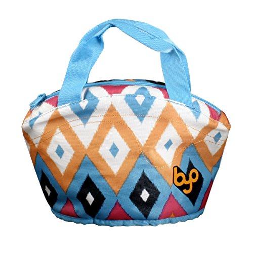 BYO Gusto Neoprene Lunch Bag, Diamond Ikat Pink ()
