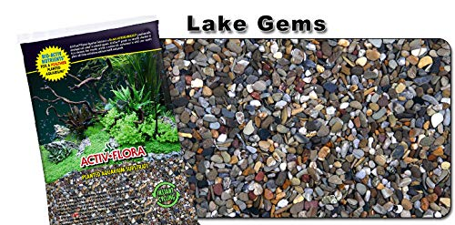 Gems Ocean - Nature's Ocean Activ-Flora Planted Substrate Lake GEMS, 20-LB