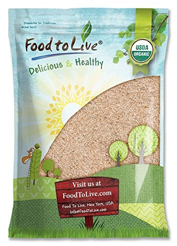 Organic Whole Wheat Bread Flour Food to Live (Whole Grain, Stone Ground, Unbleached, Non-GMO, Unbromated, Raw, Vegan, Bulk, Product of the USA) — 16 Pounds -