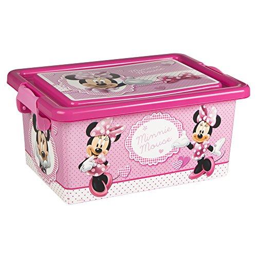 ColorBaby - Caja ordenación 7 litros, diseño minnie mouse (76602): Amazon.es: Juguetes y juegos