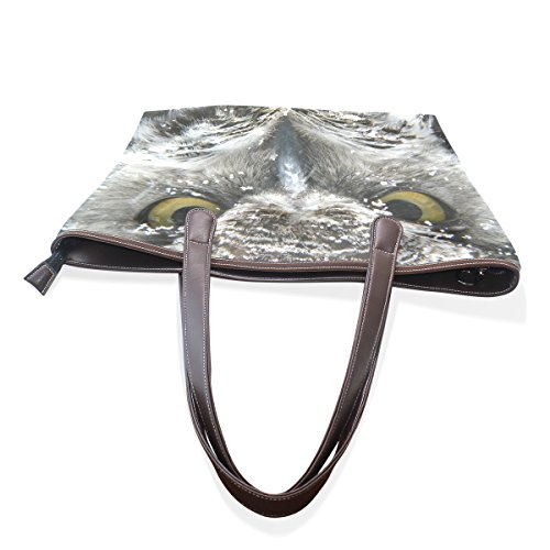Owl Borsa Cm Grande Impugnatura A Womens Muticolour L Tote Pu 33x45x13 Leather Coosun Tracolla Bag FpSqEE