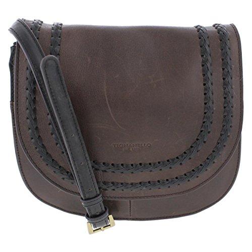 Tignanello Classic Boho Saddle Bag, Brown/Black (Brown Leather Tignanello)