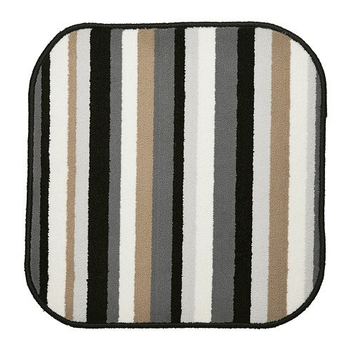 IKEA SAXSKÄR Bathmat, black, multicolor 15014