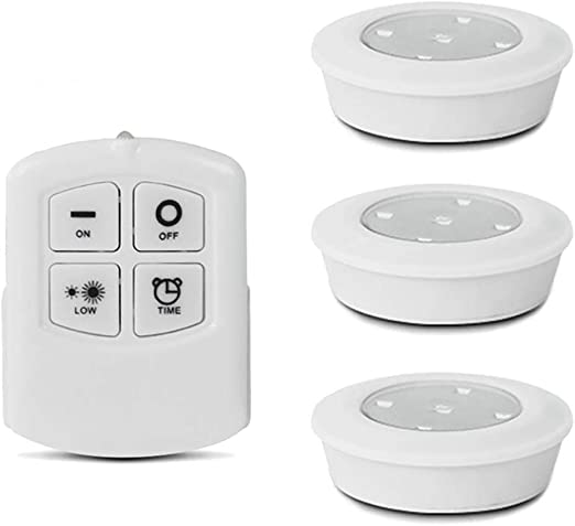 OOOUSE LED Puck Lights, Wireless Touch Light Armario Luces con ...