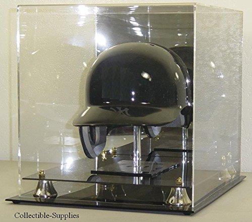 Baseball Batting Helmet Display Case (FULL SIZE BASEBALL HELMET DISPLAY CASE with STAND)