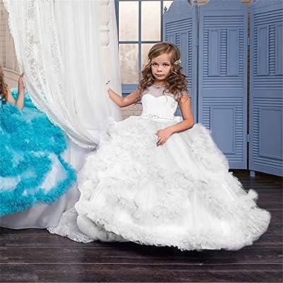ee999c86bbf Zhangcaiyun 819 5000 Vestido de Bola de Las niñas pequeñas Vestido de  Princesa para niños Chica de Flores Vestido de Noche de Bodas Mopping Falda  Larga ...