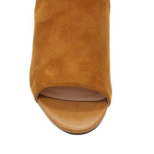 MERUMOTE - Sandalias de vestir para mujer marrón