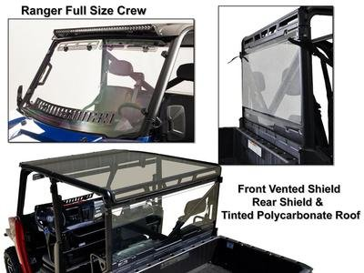 Polaris Ranger Full Size Crew Roof/Shield/Cab Back Combo (Utv Crew Roof)
