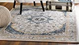 "MADISON COLLECTION 76-9A1Y-137O 401 Vintage Distressed Style Area Rug Clearance Soft Pile Durable Size Option (3′.8"" x 5 '), 3'.8"" x 5 '"