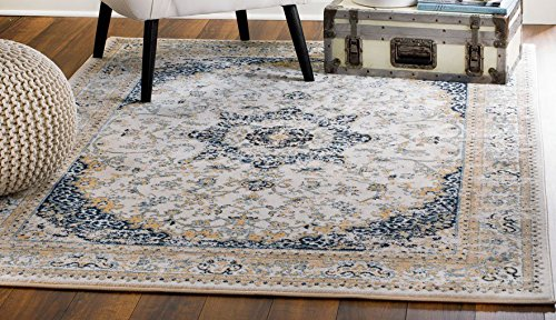 MADISON COLLECTION 76-9A1Y-137O 401 Vintage Distressed Style Area Rug Clearance Soft Pile Durable Size Option (3'.8'' x 5 '), 3'.8'' x 5 '