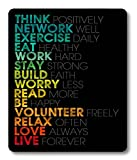 Smooffly Inspirational Quotes Customized Rectangle Mouse Pad,Gaming Mouse Pad