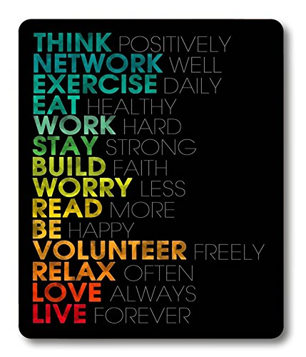 Smooffly Inspirational Quotes Customized Rectangle Mouse Pad,Gaming