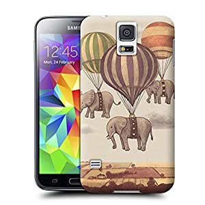 Unique Phone Case Flight of the Elephants Hard Cover for samsung galaxy s5 cases-buythecase