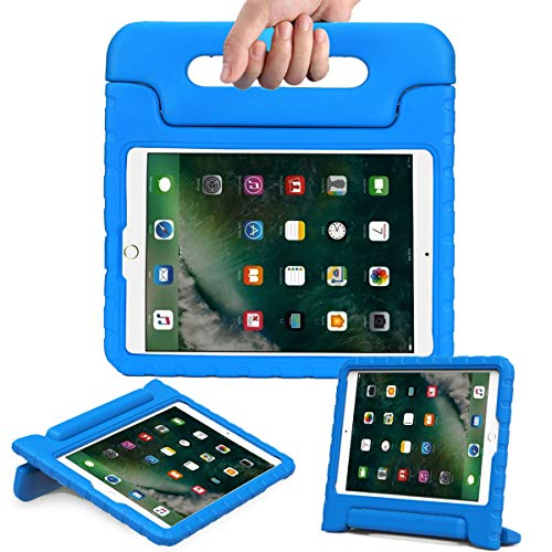 AVAWO Kids Case for New iPad 9.7 2017 & 2018 Release - Light Weight Shock Proof Convertible Handle Stand Friendly Kids Case for iPad 9.7-inch 2017 & 2018 Latest Gen (iPad 5th & 6th Gen) - Blue