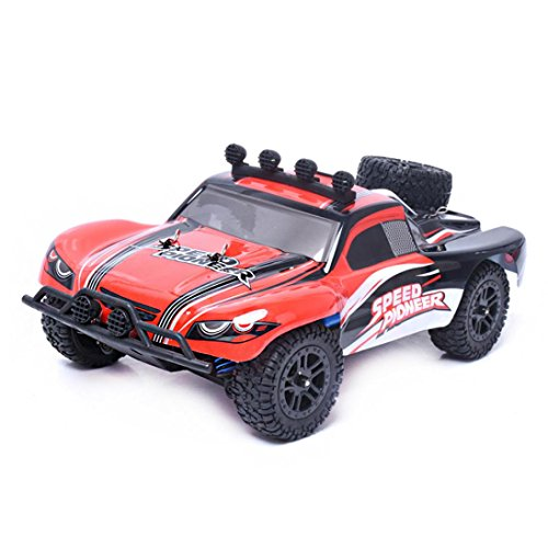 Putars 1 18 High Speed Rc Racing Car 4Wd Remote Control Truck Off Road Buggy Suv  Suitable Ages  Above 8 Yeas Old Max Speed  40 Km H   Red