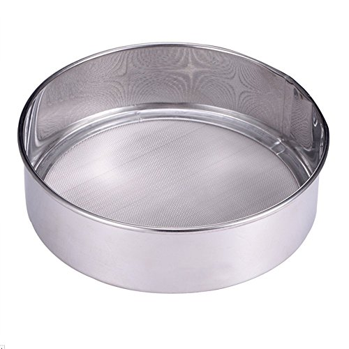 Lautechco 60 Mesh Stainless Steel Ultra Fine Mesh Flour Sifting Sifter Sieve Strainer Cake Baking Kitchen by Lautechco®