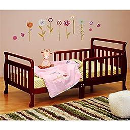 Athena Anna Sleigh Toddler Bed, Cherry