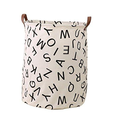 Storage Bins, Canvas Storage Bags/ Baskets Nursery Toy Storage/ Toy Organizers Laundry Baskets/ Hampers (ALPHABET) (Nursery Sage)